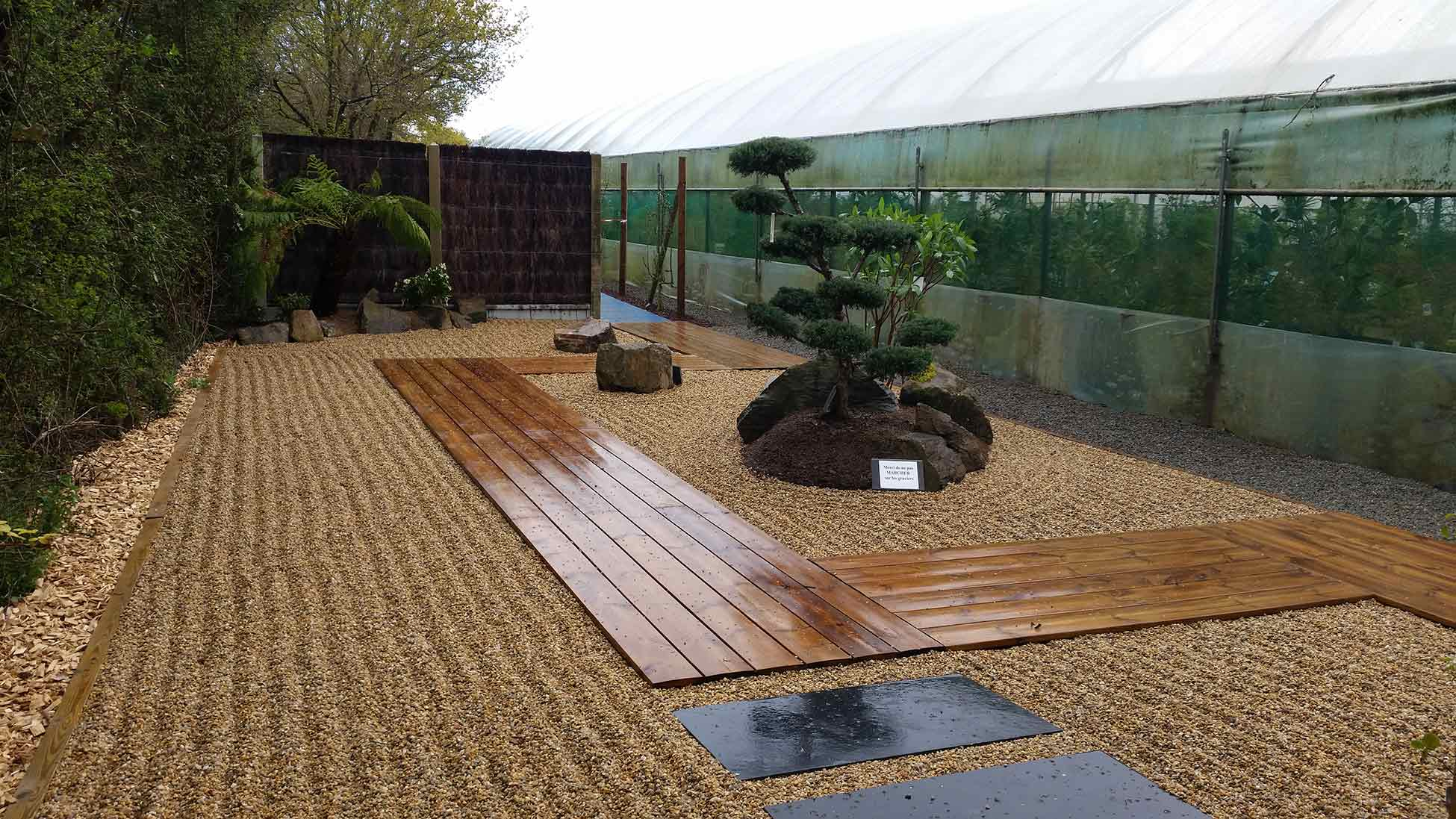 Showroom barreau paysage st mars de coutais jardin for Paysage jardin japonais